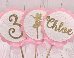 Gold And Pink Party Decorations Ballerina Party Etsy