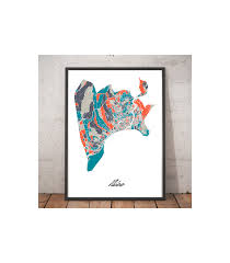 Nice France Map by Poster Nice France Multicolor Map Original Art
