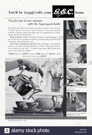 old advert for a gec electric kettle and other household