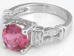 rings pink stones images Pink tourmaline ring in 14k white gold gr 9125 jpg