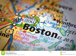 Boston Road Map by Boston On Map Stock Photo Image 89393909