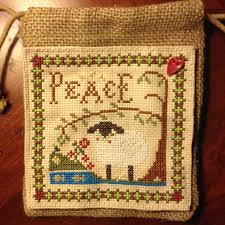 little sheep virtues peace draw string bag little house