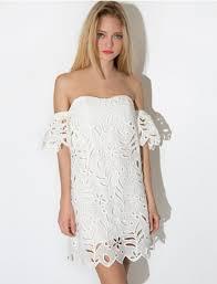 dress cute scalloped eyelet eyelet lace summer summer dress
