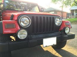 jeep wrangler front grill plasti dipping a jeep grille
