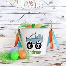 personalized easter baskets for toddlers boys personalized easter easter pail toddler basket