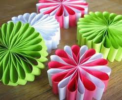 paper flower ornaments craft finds cut out keep craft