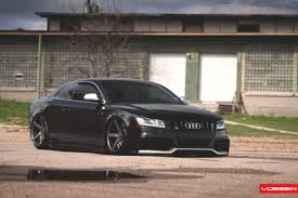 audi s5 air suspension slammed with vossen vvs cv3 rims
