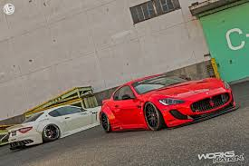 maserati granturismo red liberty walk maserati granturismo body kit tickles the eccentric