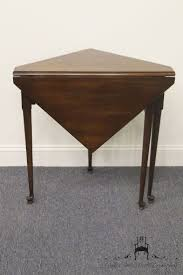drop leaf end table brandt hagerstown md triangle drop leaf corner mahogany end table