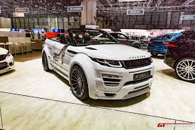 range rover evoque 2017 geneva 2017 hamann range rover evoque convertible gtspirit