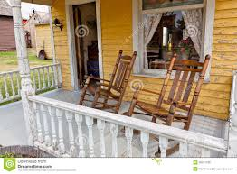 Old Rocking Chair Old Rocking Chairs On Porch Royalty Free Stock Images Image
