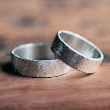 Contemporary Wedding Rings by Modern Wedding Ring Rustic Wedding Ring Set Silver Wedding