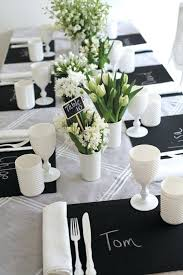 black and white table settings black white table settings elegant black and white table white and