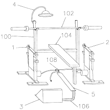 patent us6926648 self spotting bench press apparatus for