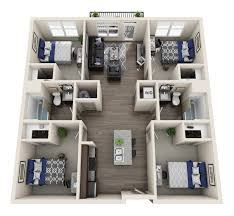 four bedroom raleigh student apartments near ncsu theory raleigh