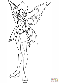 winx club fairy mirta coloring page free printable coloring pages