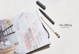 urban sketching quick tips u2014 elaine cheng