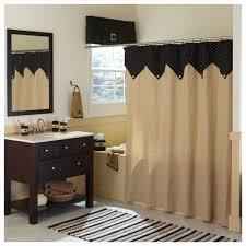 Burlap Shower Curtains Color Burlap Shower Curtain Feat Brass Curtain Rod Closed To