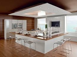 cuisine piano cuisine avec piano central blanche et bois ilot lzzy co