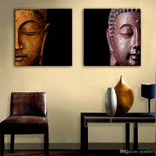 home decoration painting 2018 oil painting buddha head decoration painting home decor canvas