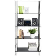 glass based bookshelves