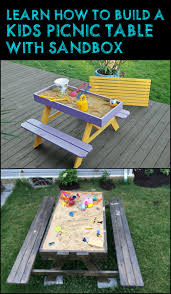 Plans For Picnic Table Bench Combo by Best 25 Kids Picnic Table Ideas On Pinterest Kids Picnic Table