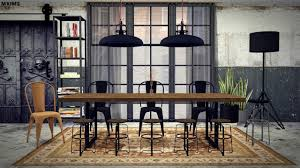 4 Dining Room Chairs My Sims 4 Blog Industrial Dining Room Set By Mxims