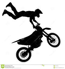 motocross freestyle riders black silhouettes motocross rider on a motorcycle stock vector