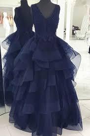 blue graduation dresses blue tulle v neck a line dresses graduation dresses