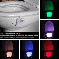 led motion sensor automatic toilet night light hanging light bowl