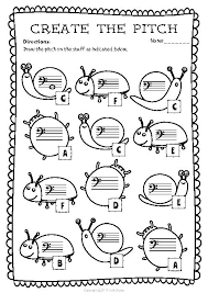 bass clef note naming worksheets for spring teacherlingo com