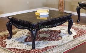 3 piece coffee table set black faux marble top huntington beach