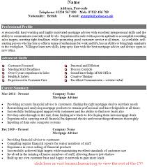 Financial Advisor Resume Example by Mortgage Adviser Cv Example Forums Learnist Org