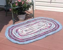 Crochet Oval Rag Rug Pattern Oval Rag Rug Etsy