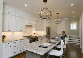 home design gorgeous modern kitchen design with orb chandelier
