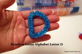 how to make alphabet letter d charm on rainbow loom youtube