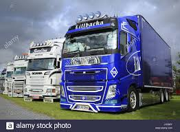 2016 volvo commercial truck alaharma finland august 12 2016 blue volvo fh fierce tiger of