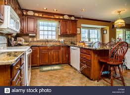 Middle Class Kitchen Designs by Kitchen In An American Middle Class House Stock Photo Royalty