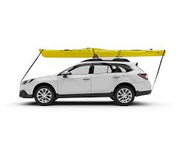 2005 Toyota Corolla Roof Rack by Toyota Camry Kayak Rack With Yakima Q Towers Fairing Mako