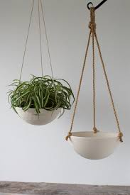 hanging planter basket large hanging planter ceramic porcelain basket with jute or