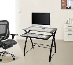 amazon com bell u0027o cd8855 computer desk with keyboard tray black