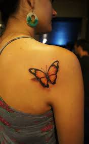 back shoulder colour butterfly chronic ink