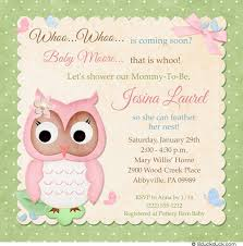 baby owl shower invitation whoo flower pink theme