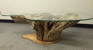 modern gold table l console table coffee table fabulous unique tables tree trunk base