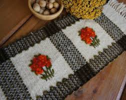 Primitive Table Runners by Wool Table Runner Etsy