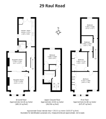 sqft to sqmeter 5 bed terraced house for sale in raul road peckham se15