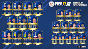 Sho Rudy this is my bundesliga tots prediction honourable mentions are rudy