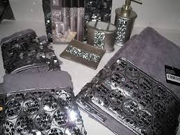 Black Sequin Shower Curtain Black And Silver Shower Curtain Set Glamour Sequin Silver Black