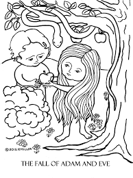 a day 3 the fall of adam and eve coloring page lg file hi res jpg