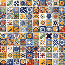 amazon com 100 hand painted talavera mexican tiles 4